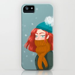 Cold winter iPhone Case