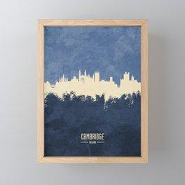 Cambridge England Skyline Framed Mini Art Print