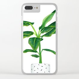 House plant Clear iPhone Case