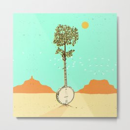 BANJO TREE Metal Print