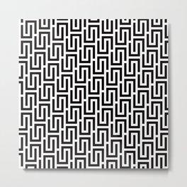 Geometric Pattern #140 (black white) Metal Print