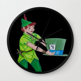 Neverland meets Wonderland Wall Clock
