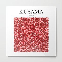 Kusama - Red Dots Metal Print