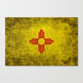 Flag of New Mexico - vintage retro style Canvas Print