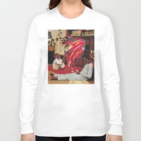 tv Long Sleeve T-shirts featuring Television by Lerson