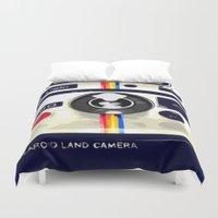 polaroid Duvet Covers featuring Polaroid by Adrienne