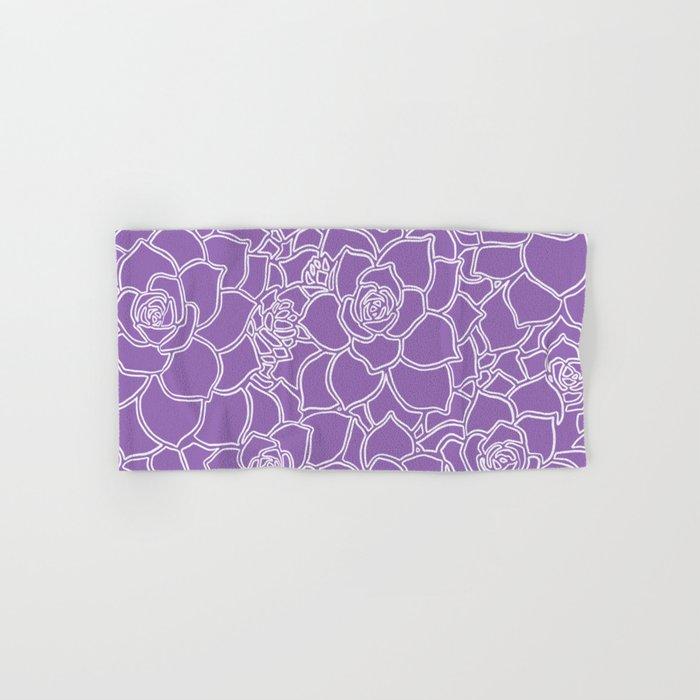 Amethyst Succulent Drawing Hand & Bath Towel
