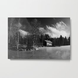 Sauna on a Finnish Lake Metal Print