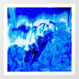Fluid Abstract 32; Crashing Waves Art Print