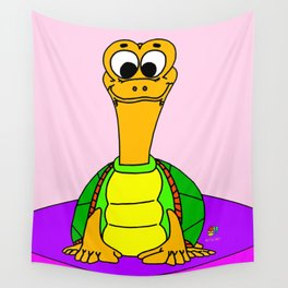 Wide-eyed Turtle Wall Tapestry