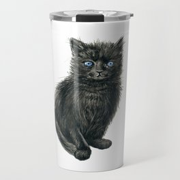 Black kitten Travel Mug