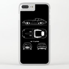 The E-Type Blueprint Clear iPhone Case