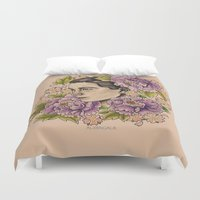 bjork Duvet Covers featuring Bjork by alxbngala