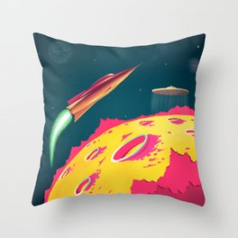 FLYING SAUCERS ATTACK Throw Pillow
