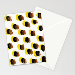 Abstract Yellow Blots pattern Stationery Cards