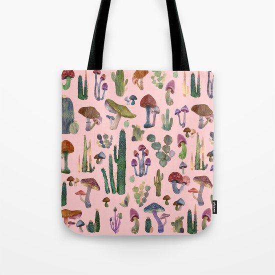 cactus and mushrooms II!! Tote Bag
