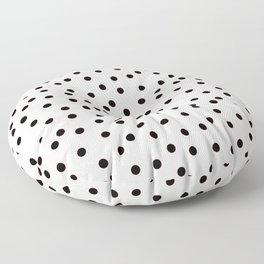 Simply smashing - white polkadots Floor Pillow