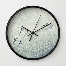 Bird Foot Prints Wall Clock