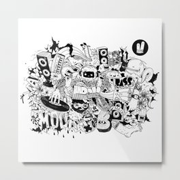 Smiley Fingers illustration 01 Metal Print