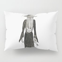 """Southern Gothic Witch Coven Watercolor; """"Rite"""" Pillow Sham"""
