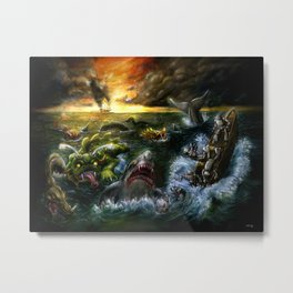 Plight of the Seabots Metal Print