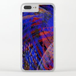 Abstract blue background Clear iPhone Case