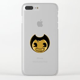 Bendy's smile face Clear iPhone Case