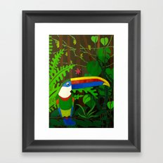 Il Tucano Pensieroso (The Thoughtful Toucan) Framed Art Print