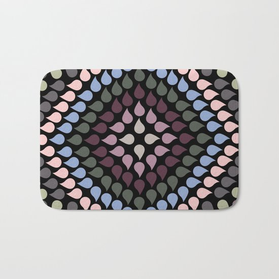 Seamless Colorful Raindrops VI Bath Mat