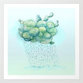PRICKLY RAIN Art Print