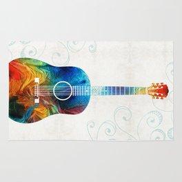 Colorful Guitar Art by Sharon Cummings Rug