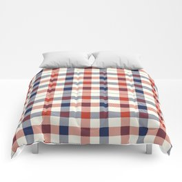 Plaid Red White And Blue Lumberjack Flannel Comforters