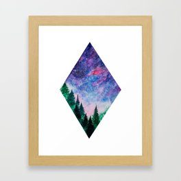 Forest in space Framed Art Print