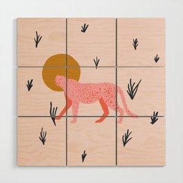 trot cat Wood Wall Art