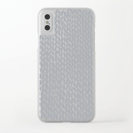 Hand Knit Light Grey Clear iPhone Case