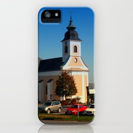 The village church of Kirchschlag | architectural photography iPhone Case