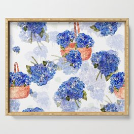 Cape Cod Hydrangeas and Baskets Serving Tray