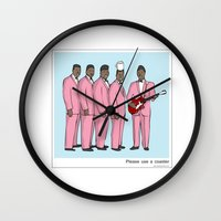 coasters Wall Clocks featuring Please use a coaster by Masonic Comics