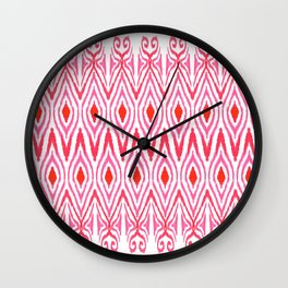 Ikat Watermelon Wall Clock
