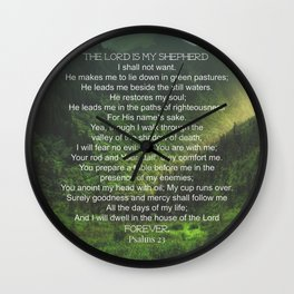 Psalms 23 Lords Prayer Wall Clock