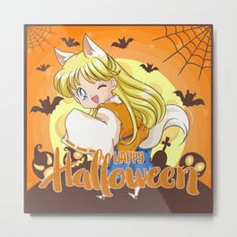 Happy Halloween Minako Metal Print