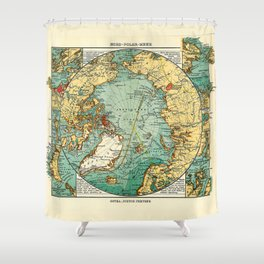 Map of the Arctic Ocean (1906) Shower Curtain