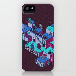Positronic Groove - Magenta iPhone Case