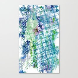 Blue green squared ghost Canvas Print