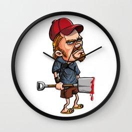 Redneck spade killer Wall Clock