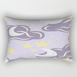 Clouds and Stars pattern Rectangular Pillow