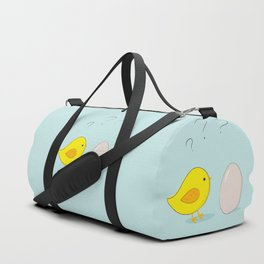 The chicken or the egg Duffle Bag