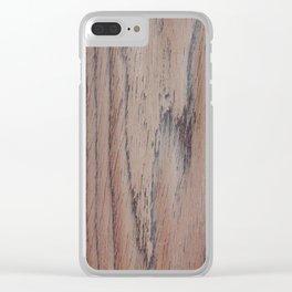 unique makassar wood brown nature design Clear iPhone Case