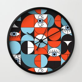 Bauhaus Eyes #3 Wall Clock