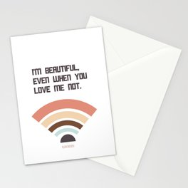 I'M BEAUTIFUL EVEN... Stationery Cards